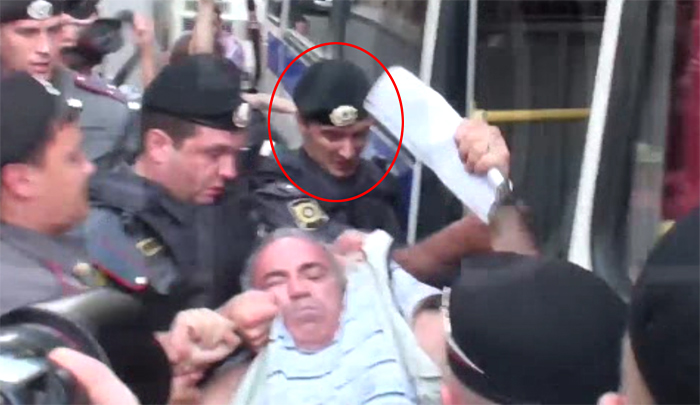 Police officer who beat Garry Kasparov, August 17, 2012