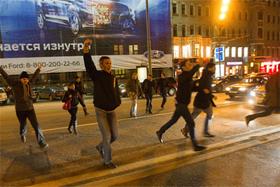 Strategy 31 ralliers take to the streets in Moscow. Source: ITAR-TASS/RIA Novosti