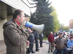 Evgeny Arkhipov at a rally in October. Source: rusadvocat.com