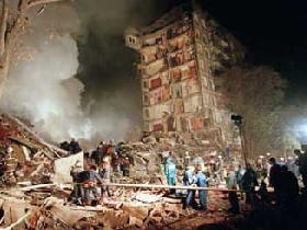 Bombed apartment building in Moscow. Source: liveinternet.ru