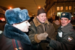 Rally of Dissent in Moscow, December 31, 2009