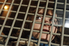Girl detained at Moscow's Strategy 31 rally on January 31, 2011. Source: Reuters