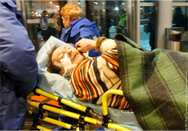 Victim of the bombing at Domodedovo Airport. Source: Drugoi.livejournal.com