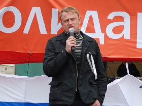Aleksei Dymovsky at the Solidarity May Day celebrations, 2010. Source: Kasparov.ru
