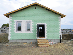 House built for fire victims. Source: Moskovsky Komsomolets/Yulia Kalinina