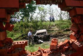 Ingushetia suicide bombing debris.  Source: AP photo