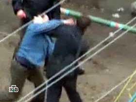 Karagai street fight. Source: NTV