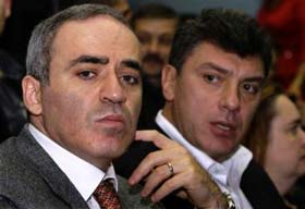 Garry Kasparov and Boris Nemtsov.  Source: AP 12.13.2008