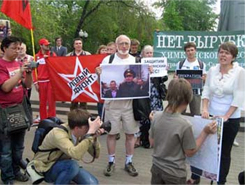 Protest in defense of the Khimki Forest in Moscow, May 22, 2011. Source: Leftfront.ru