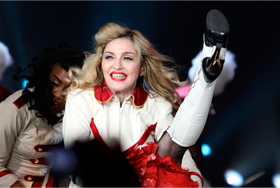 Madonna at a concert in St. Petersburg in August 2012. Source: ITAR-TASS