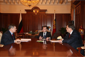 Meeting with Medvedev, Chaika, and Chuychenko. Source: Kremlin.ru