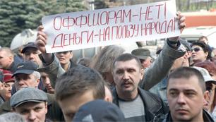 Miners protesting in Novokuznetsk on May 22, 2010. Source: Yegor Chuvalsky/RIA Novosti