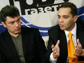 Boris Nemtsov and Vladimir Milov.  Source: SPS website