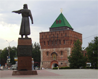 The Nizhny Novgorod Kremlin. Source: Wikimedia