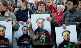 Memorial in Moscow for Anna Politkovskaya, October 7, 2010. Source: Kasparov.ru