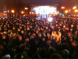 Protesters on Pushkin Square 12/29/11. Source: Rustem Adagamov
