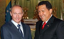 Putin and Chavez.  Source: RIA Novosti