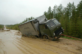 Federal road leading to Yakutsk, as of 2006. Source: Fishki.net