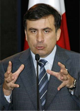 Georgian President Mikheil Saakashvili. Source: Reuters/David Mdzinarishvili