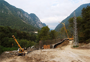 Olympic construction in Sochi. Source: Kavkaz-uzel.ru