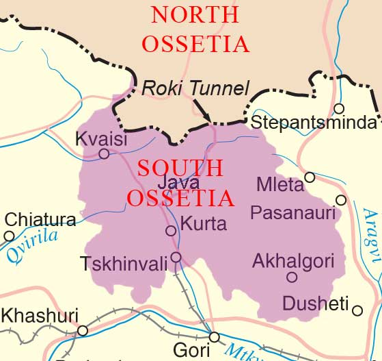 South Ossetia Map with Java
