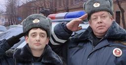 "Screenshot from a Russian show about traffic cops, ""GIBDD etc."""