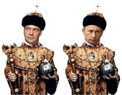 Medvedev and Putin as tsar. Source: Yezhednevny Zhurnal