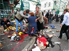 Terrorist attack in in Vladikavkaz, Sept. 9, 2010. Source: Reuters