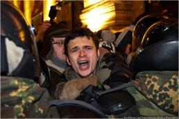 Ilya Yashin being detained on Moscow's Triumfalnaya Square, December 31, 2010. Source: Ilya Varlamov/Zyalt.livejournal.com